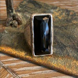 Silpada Stunning Black Onyx Ring